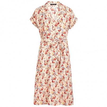King Louie Kjole, Darcy Sonny, Cream, sommerkjole, kjole med print, skjortekjole, hverdags kjole, kjole til hverdag