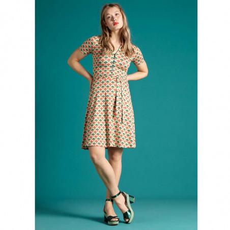 King Louie Kjole, Emmy Carmel, Pearly Dew, sommerkjoler, kjoler med print, kjoler i jersey, jerseykjoler, hverdagskjoler - Model