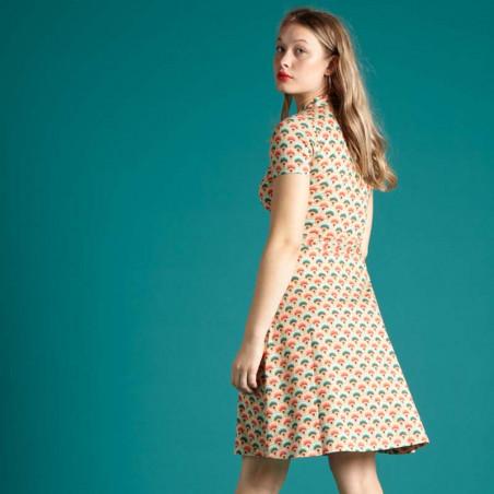 King Louie Kjole, Emmy Carmel, Pearly Dew, sommerkjoler, kjoler med print, kjoler i jersey, jerseykjoler - bagside
