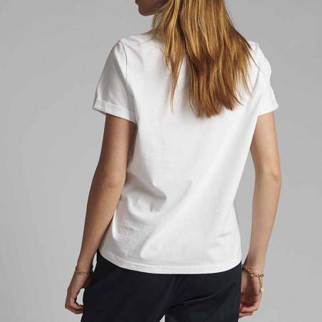 Nümph T-shirt, Nucizzy Bloomin, Bright White Numph t-shrt med print - ryg