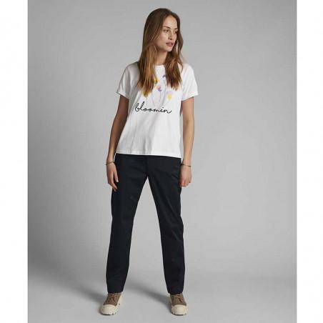 Nümph T-shirt, Nucizzy Bloomin, Bright White Numph t-shrt med print look