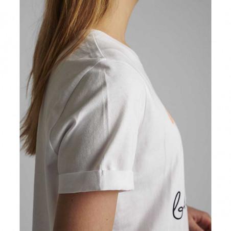 Nümph T-shirt, Nucizzy Bloomin, Bright White Numph t-shrt med print ærme