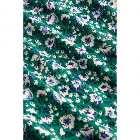 King Louie Bluse, Perris, Opal Green, Bluse i jersey, bluse med blomsterprint - Print