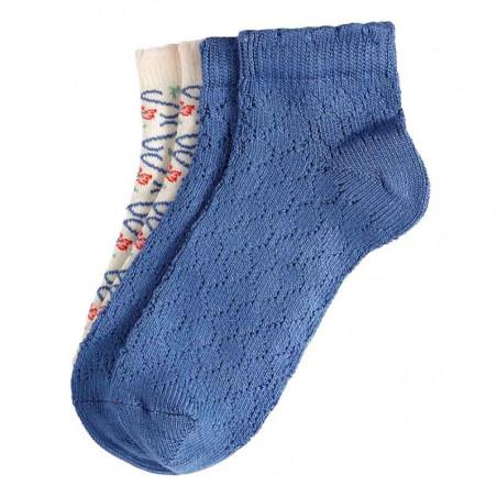King Louie Strømper, Twister 2-pack, Cream Kinglouie ankel sokker - short socks