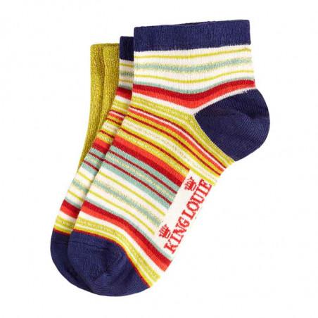 King Louie Strømper, Chino Short socks 2-pack, Spring Yellow