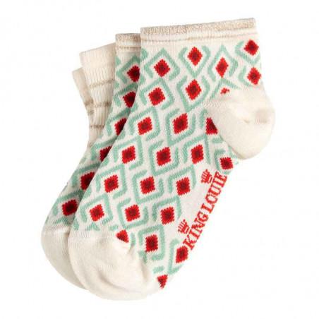 King Louie Strømper, Mosaic Short 2-pack, Cream