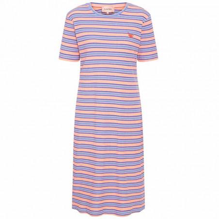 Hunkøn Kjole, Felipa, Blue Striped, sommerkjole, hverdagskjoler, stribet kjoler