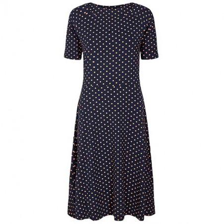 Nümph Kjole, Nukora, Dark Sapphire, sommerkjoler, hverdagskjoler, jersey kjoler, kjoler i jersey