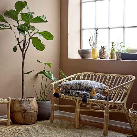 Bloomingville Pude, Gutte, Sort, pudebetræk, puder til sofaen  - Interiør
