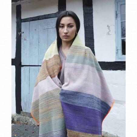 Petroleum Tørklæde, Scarf, Multi Multifarvet tørklæde