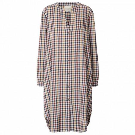 Lollys Laundry Kjole, Basic, Check Print, sommerkjoe, skjortekjole, hverdagskjole