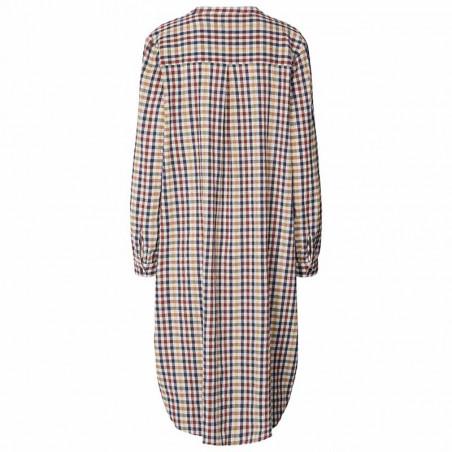 Lollys Laundry Kjole, Basic, Check Print, sommerkjoe, skjortekjole, hverdagskjole - Bagside