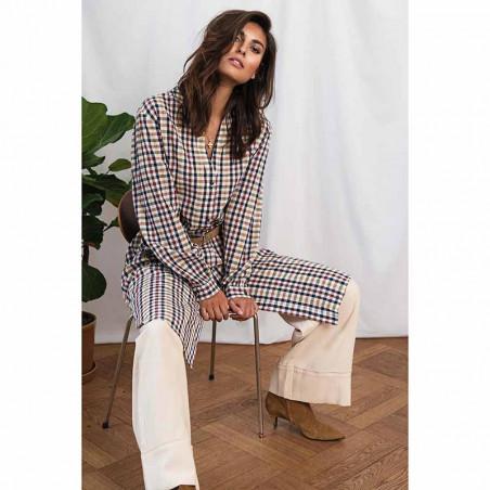 Lollys Laundry Kjole, Basic, Check Print, sommerkjoe, skjortekjole, hverdagskjole - model