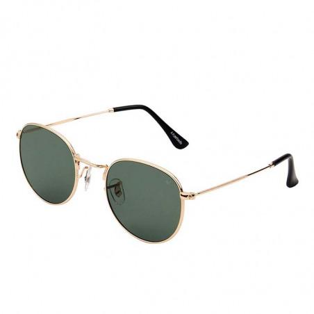 A Kjærbede Solbriller, Hello, Guld/Green lens