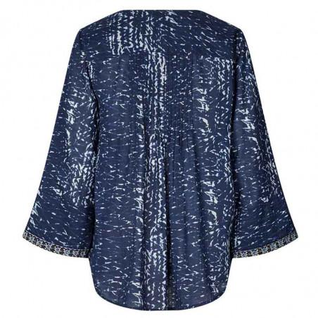 Lollys Laundry Bluse, Benny, Blue, Lollys Laundry shirt Benny - Bagside