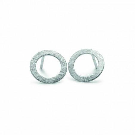 Pernille Corydon Øreringe, Small Open Coin Earring, Sølv