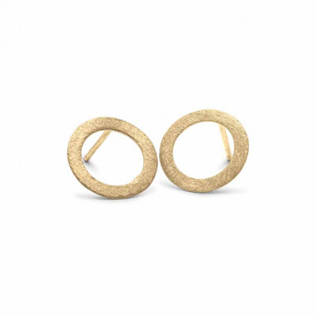 Pernille Corydon Øreringe, Small Open Coin Earrings, Guld