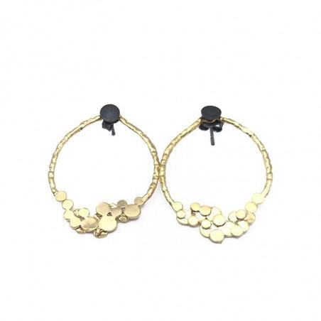 Pendulum Øreringe, Double Foam earrings, Guld