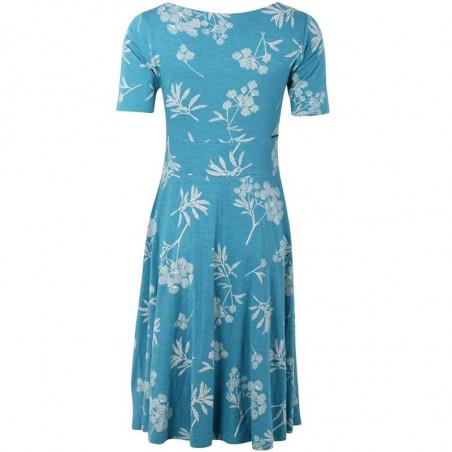Danefæ Kjole, Charlotte, Rainblue/Charlk, sommerkjoler, kjoler i jersey, kjoler til hverdag, hverdagskjoler - Bagside
