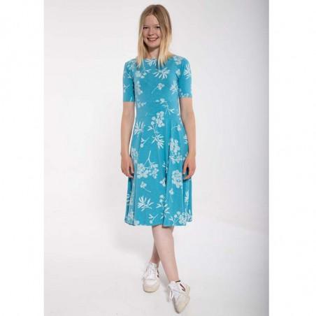 Danefæ Kjole, Charlotte, Rainblue/Charlk, sommerkjoler, kjoler i jersey, kjoler til hverdag, hverdagskjoler - Model