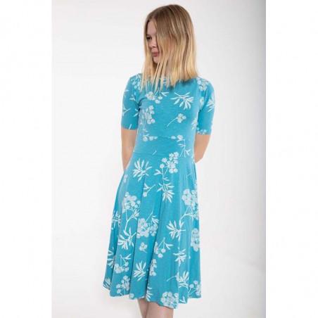 Danefæ Kjole, Charlotte, Rainblue/Charlk, sommerkjoler, kjoler i jersey, kjoler til hverdag, hverdagskjoler - front