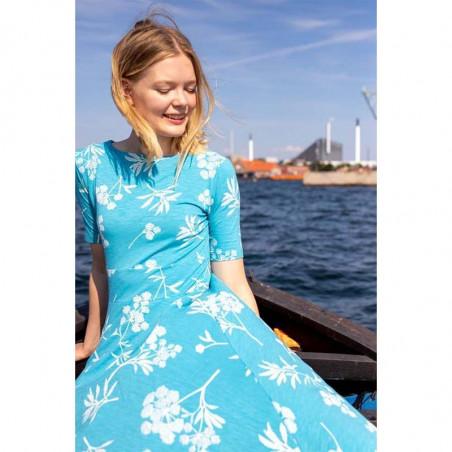 Danefæ Kjole, Charlotte, Rainblue/Charlk, sommerkjoler, kjoler i jersey, kjoler til hverdag, hverdagskjoler - Detalje