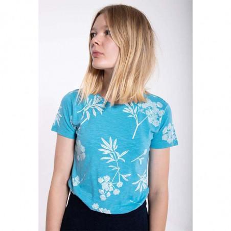 Danefæ T-shirt, Vintage Organic, Rainblue/Charlk, økologisk bomuld, Kortærmet T-shirt, T-shirt med print - Model