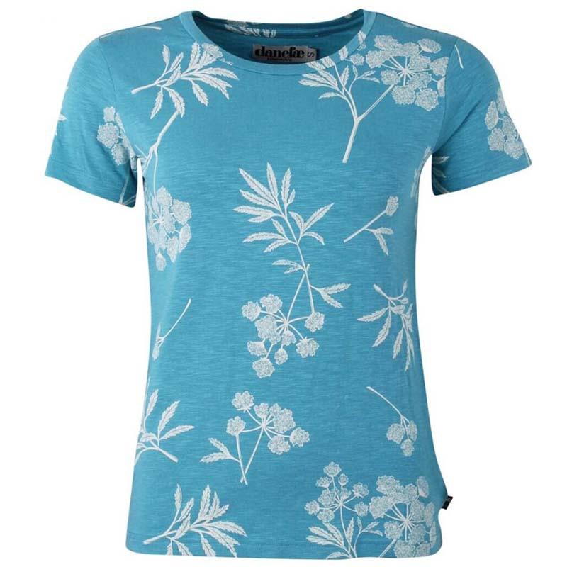 Danefæ T-shirt, Vintage Organic, Rainblue/Charlk, økologisk bomuld, Kortærmet T-shirt, T-shirt med print