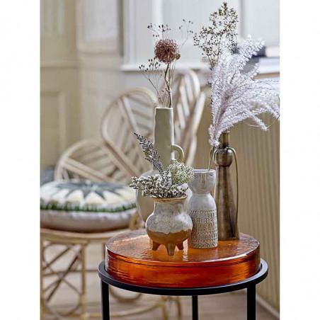 Bloomingville Vase, Stentøj m/ansigt, Hvid, vaser i stentøj