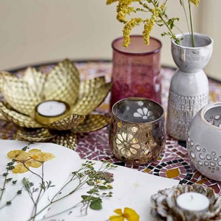 Bloomingville Vase, Stentøj m/ansigt, Hvid, glasvaser