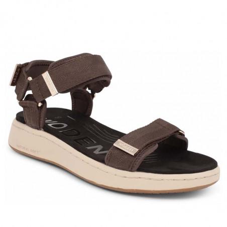 Woden Sandaler, Line, Brown, korksåler - Fra siden