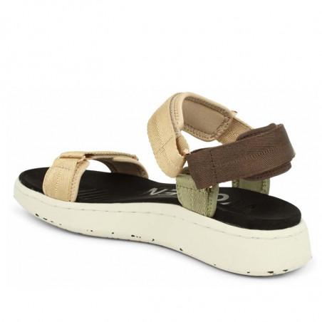 Woden Sandaler, Line, Multi, sandaler til kvinder, sandaler med velcro - skrå