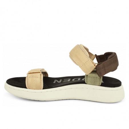 Woden Sandaler, Line, Multi, sandaler til kvinder, sandaler med velcro - Fra siden
