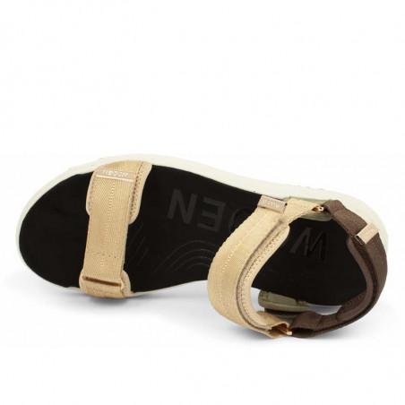 Woden Sandaler, Line, Multi, sandaler til kvinder, sandaler med velcro - Oppe fra