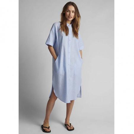 Nümph Kjole, Nuboheme, Airy Blue, sommerkjoler, hverdagskjoler, numph tøj, numph kjole nuboheme  - Model
