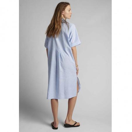 Nümph Kjole, Nuboheme, Airy Blue, sommerkjoler, hverdagskjoler, numph tøj, numph kjole nuboheme - Bagfra