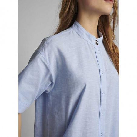 Nümph Kjole, Nuboheme, Airy Blue, sommerkjoler, hverdagskjoler, numph tøj, numph kjole nuboheme - detalje