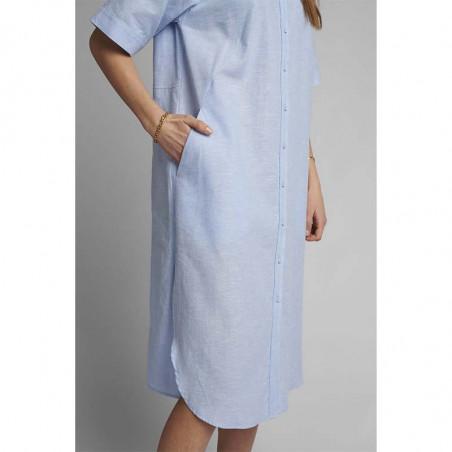 Nümph Kjole, Nuboheme, Airy Blue, sommerkjoler, hverdagskjoler, numph tøj, numph kjole nuboheme - Lomme