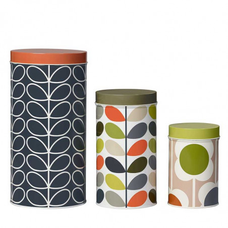 Orla Kiely Dåser 3 Stk, Assorted Flower, Multi
