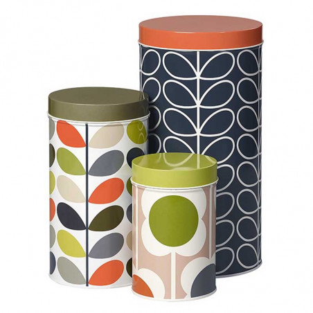 Orla Kiely Dåser 3 Stk, Assorted Flower, Multi Multi stem Storage Tins