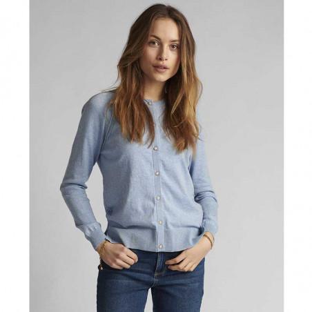 Nümph Cardigan, Nubechet, Vista Blue, nümph tøj - model