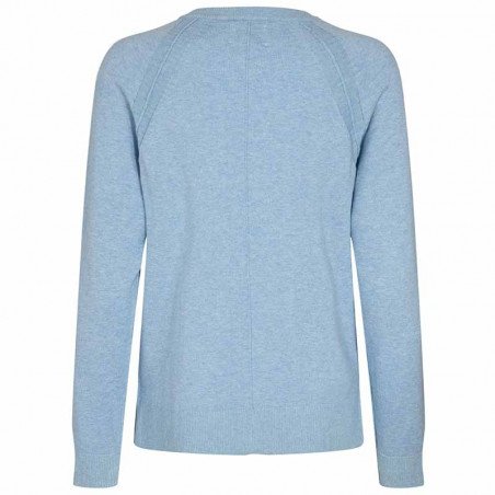 Nümph Cardigan, Nubechet, Vista Blue, nümph tøj - Bagside