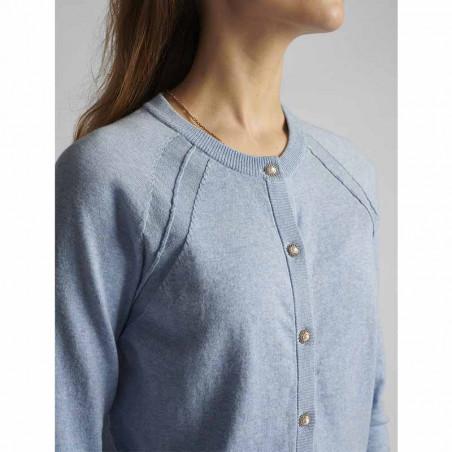 Nümph Cardigan, Nubechet, Vista Blue, nümph tøj - detaljer