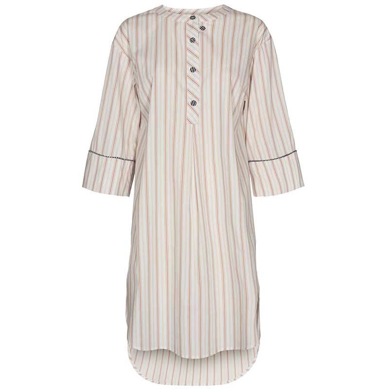 Nümph Kjole, Nucantata, Bright White Numph skjortekjole i kaftan snit