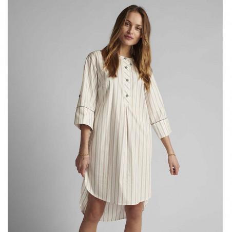 Nümph Kjole, Nucantata, Bright White Numph skjortekjole i kaftan snit look