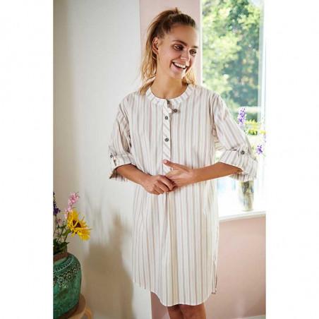 Nümph Kjole, Nucantata, Bright White Numph skjortekjole i kaftan snit på model