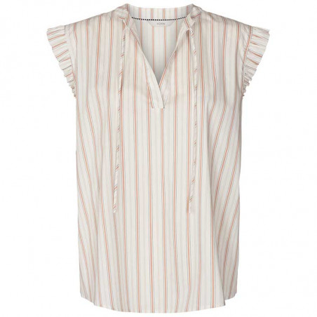 Nümph Bluse, Nucantata, Bright White, sommertoppe, numph tøj, toppe