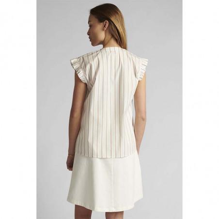 Nümph Bluse, Nucantata, Bright White, sommertoppe, numph tøj, toppe - Bagfra