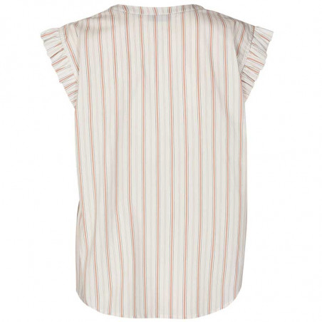 Nümph Bluse, Nucantata, Bright White, sommertoppe, numph tøj, toppe - Bagside