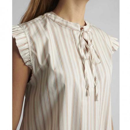Nümph Bluse, Nucantata, Bright White, sommertoppe, numph tøj, toppe - Detaljer